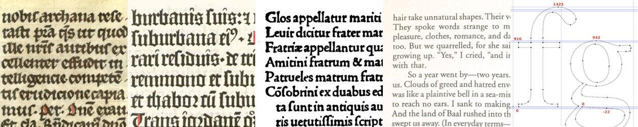 Type through 5 centuries.