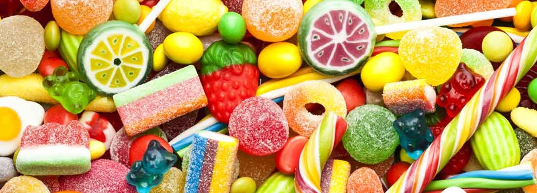 Colorful candies in a candy store