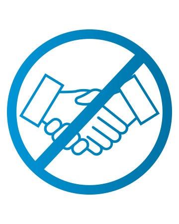 Kein Händeschütteln