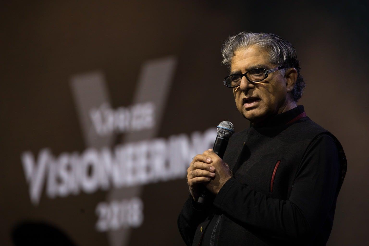Deepak Chopra on stage