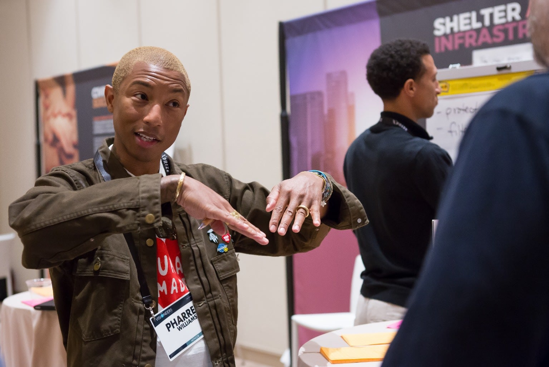 Pharrell Williams on stage