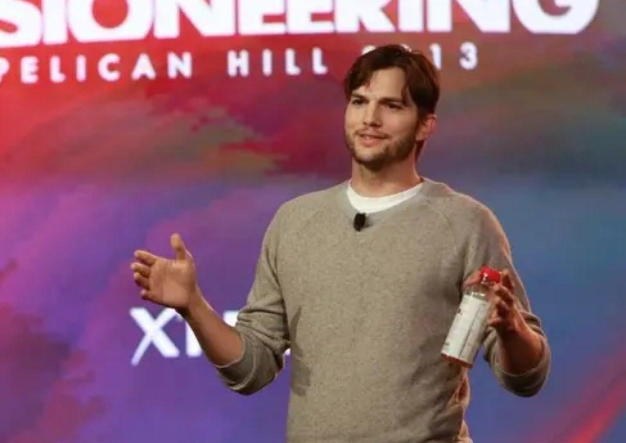 Ashton Kutcher on stage