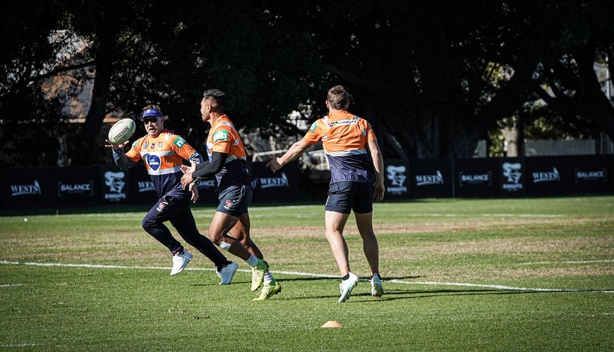 Pictured: The Newcastle Knights at this week's  Newcastle training session, ahead of Saturday's game